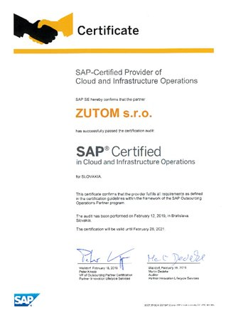 SAP Certified Cloud and Infrastructure Operations